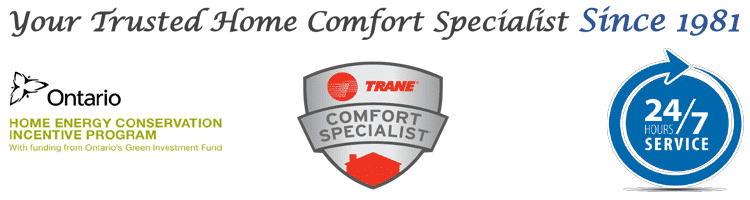 Your trusted home comfort specialist since 1981 - Trane Comfort Specialist - 24/7 Service