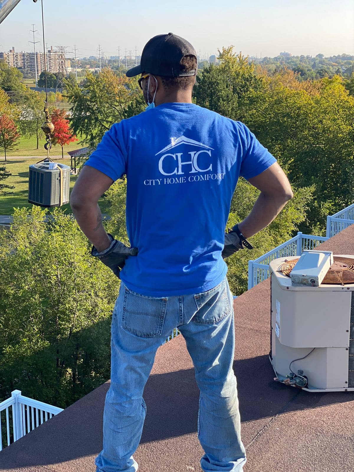 rooftop air conditioner replacement city home comfort