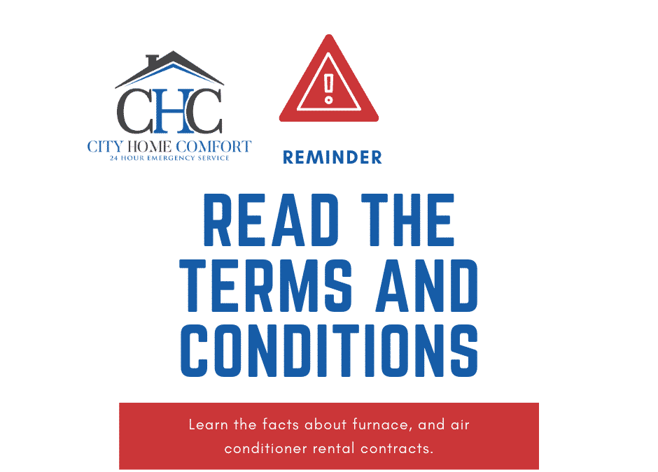 Facts about rental furnace and air conditioner contracts.